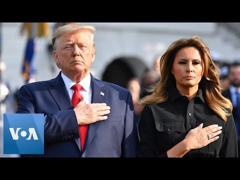 President Donald Trump and First Lady Melania Observe a Moment of Silence For 9/11 Victims