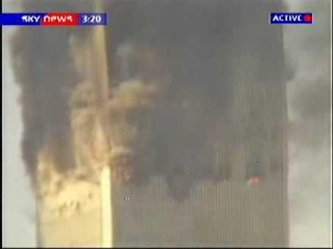WTC2 Demolition NE – Flashes visible