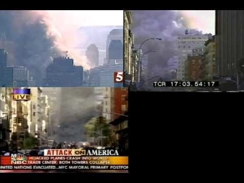 """WTC Building 7 """"collapse"""" clips synched"""