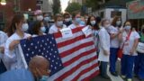 Staff at NYC hospital stage 'clap out' for heroes of September 11th