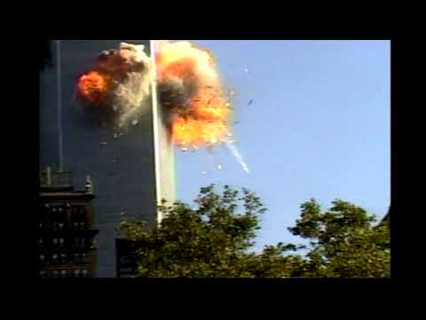 9/11/2001 at 9:02:59 AM, 2nd plane hits WTC in 4K (slow & silent)