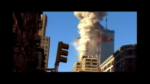 9/11/2001 at 8:46 AM, 1st Plane Hits WTC in 4K (silent)