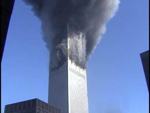 9/11 WTC Footage, WTC 2 burns