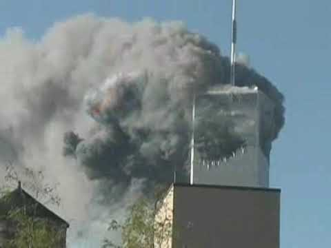 2nd plane hits WTC off camera, with audio